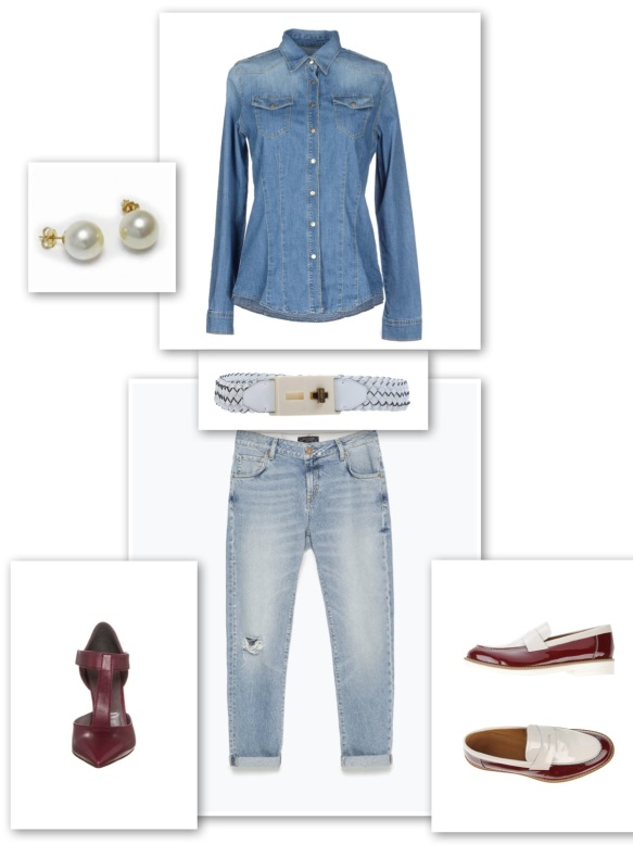 DOUBLE DENIM LOOK