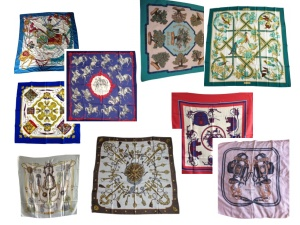 Hermes silk squares from Vestiarie Collective