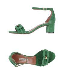 L' AUTRE CHOSE Mid-heel green suede sandals