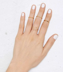 Nasty Gal You're So Golden 6-pc. Ring Set