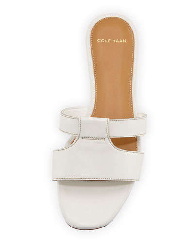 Cole Haan Mesi Leather Sandal Slide, White