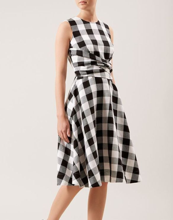 Hobbs Twitchill Check Dress