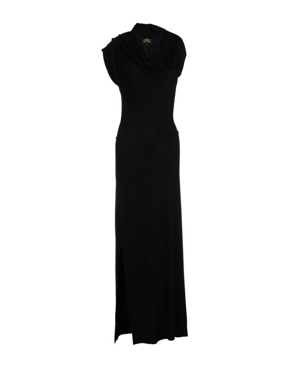 VIVIENNE WESTWOOD ANGLOMANIA Long dress (shawl collar black)