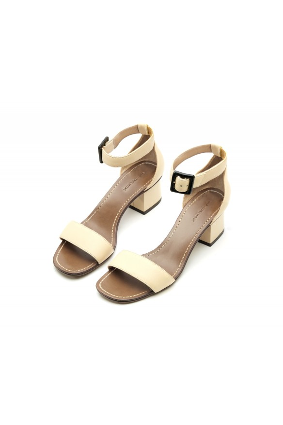 L'Autre chose RUSSIAN LEATHER SANDALS - BEIGE