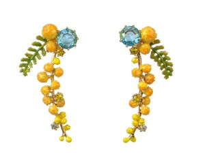 Les Néréides GARDENS IN PROVENCE LONG MIMOSA EARRINGS