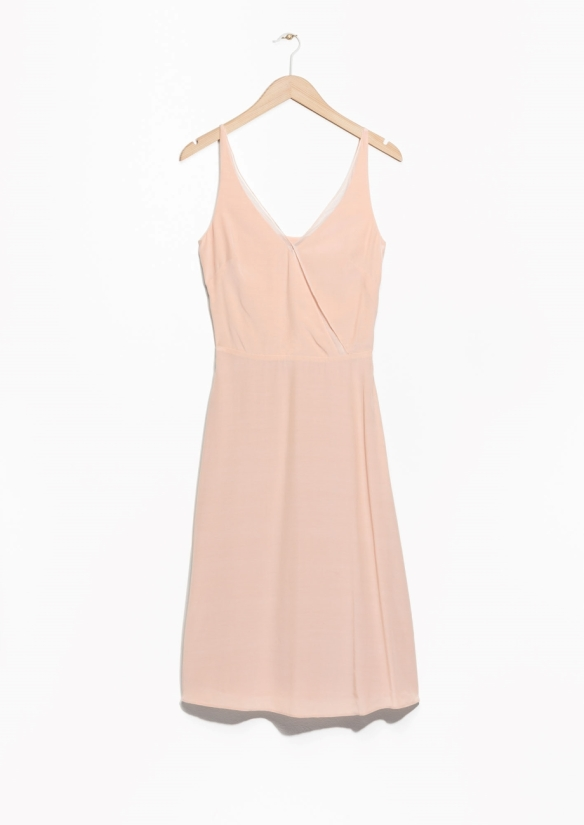 & Other Stories SHEER TULLE DRESS beige