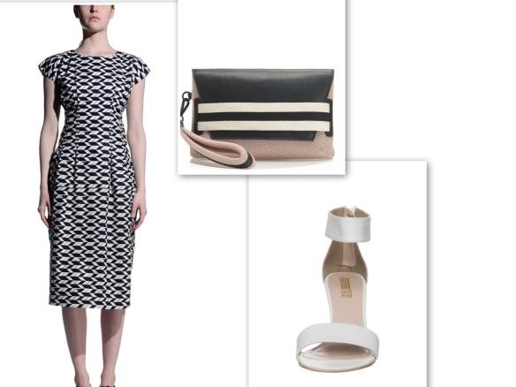 black and white shift dress (confident)