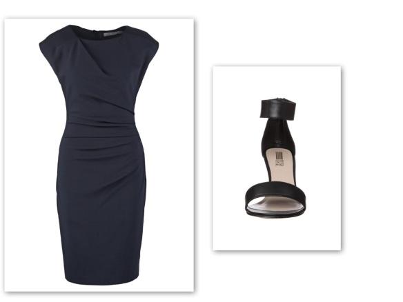 Black shift dress (provocative)
