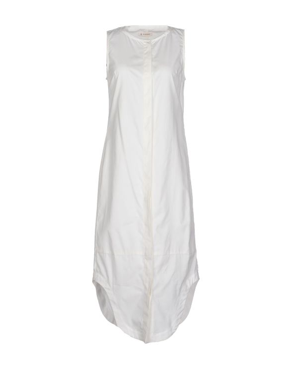 DONDUP%0A3:4 length cotton dress white