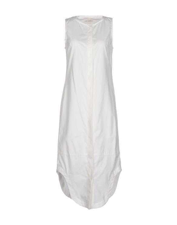 DONDUP%0A3:4 length cotton dress white
