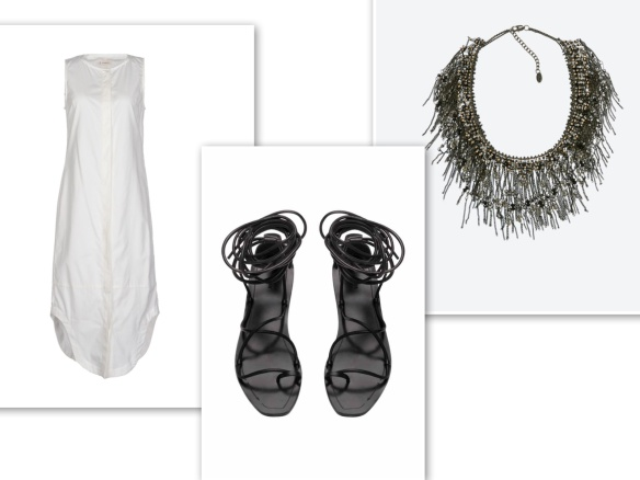 White casual shift dress (energetic)