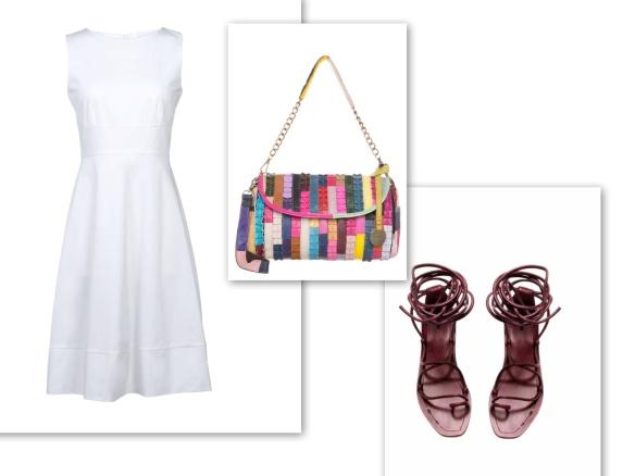 white shift dress (bright)