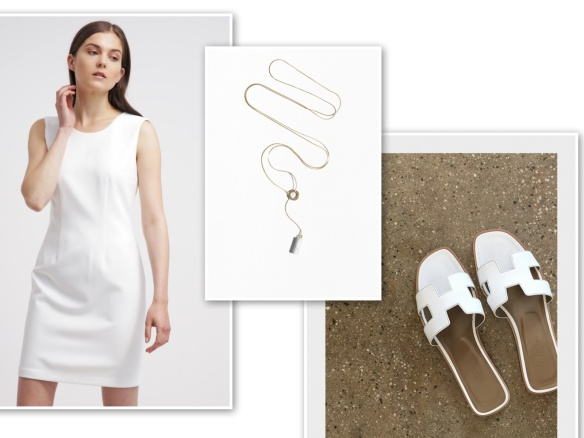 White shift dress (miserable)