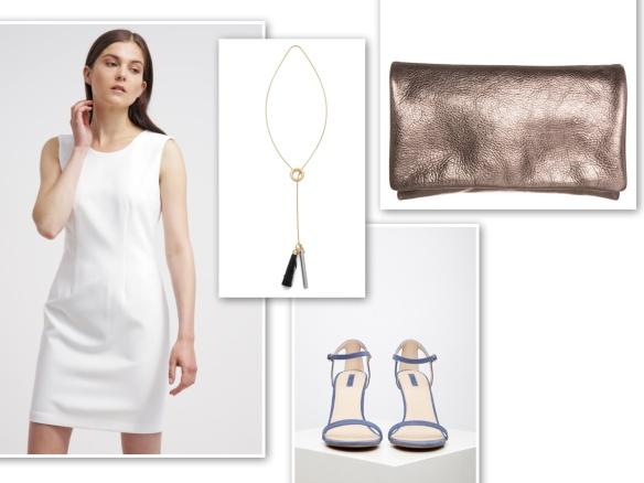 white shift dress (quiet)