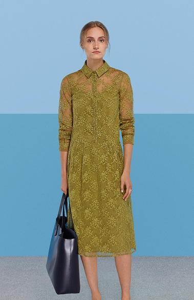 Finery Ivy Embroidered Shirt Dress