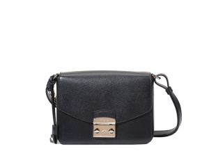 FURLA METROPOLIS SHOULDER BAG ONYX black