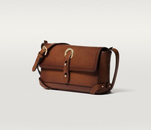 Massimo Dutti LEATHER MESSENGER BAG brown