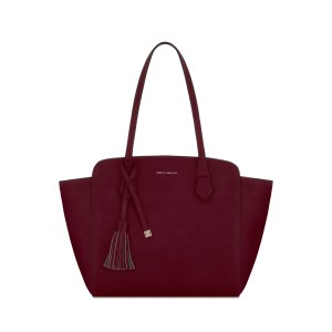 COCINELLE TOTE BAG IN LEATHER burgundy