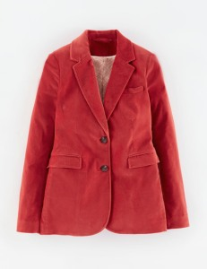 BODEN VELVET JACKET in red