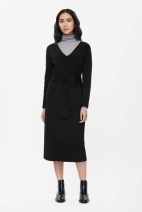COS LONG TIE DRESS black