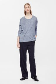 COS WOOL-MIX JERSEY TOP light grey