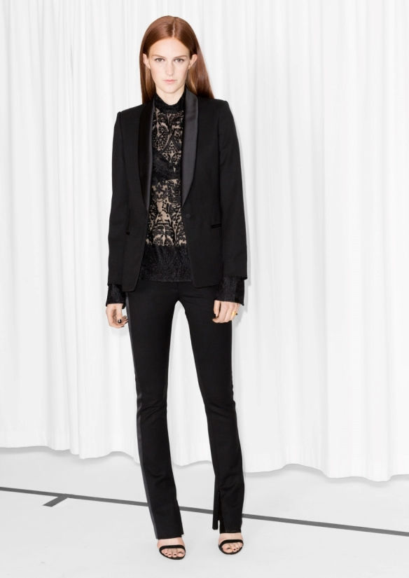 &Other Stories Tailored Wool Blend Blazer black