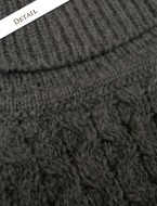 Aran sweater market MERINO WOOL TURTLENECK SWEATER detail