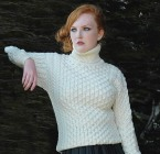 Aran sweater market MERINO WOOL TURTLENECK SWEATER