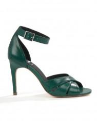 ATTERLEY Green Soho Leather Twist Sandal