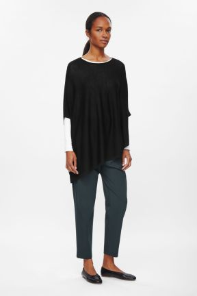 COS ASYMMETRIC KNIT TOP black