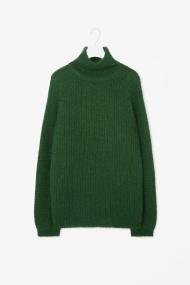COS HIGH-NECK JUMPER green