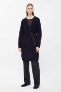 COS MOHAIR AND WOOL CARDIGAN navy