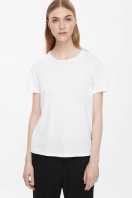 COS NEAT-FIT COTTON T-SHIRT white