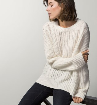 Massimo Dutti CHUNKY CABLE KNIT SWEATER