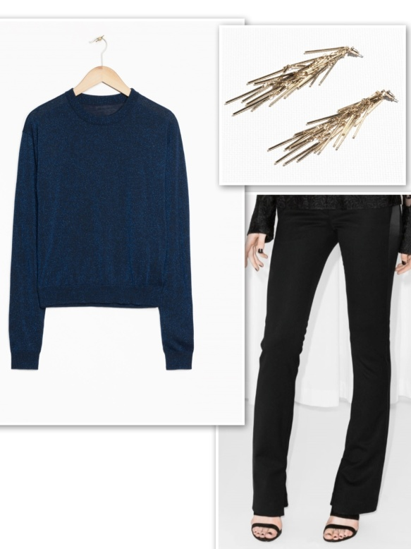 & Other Stories glitter blue sweater for day