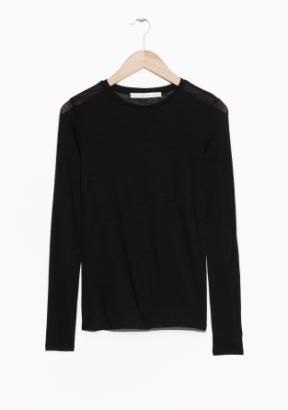 &Other Stories Long-Sleeved Wool Top black (100% wool)