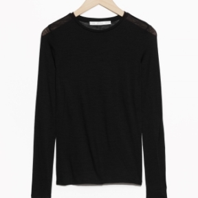 &Other Stories Long-Sleeved Wool Top black (100% wool)