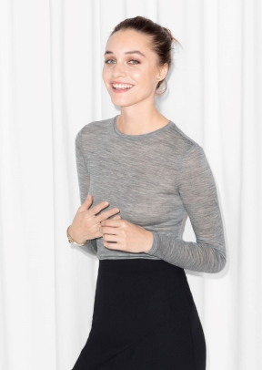 &Other Stories Long-Sleeved Wool Top grey (100% wool) € 39