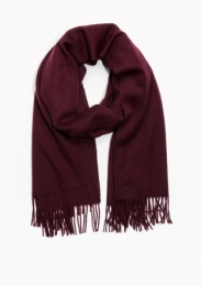&Other Stories Oversized Wool Scarf dark red