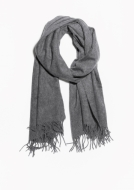 &Other Stories Oversized Wool Scarf light grey
