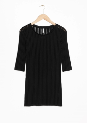 &Other Stories Rib-Knit Top black (100% cotton)