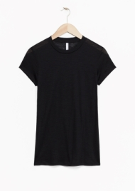 &Other Stories Sheer Wool T-Shirt black (100% wool)