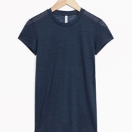 & Other Stories Sheer Wool T-Shirt blue (100% wool)