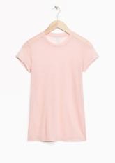 &Other Stories Sheer Wool T-Shirt light pink (100% wool)