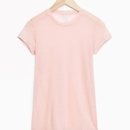 &Other Stories Sheer Wool T-Shirt light pink (100% wool)