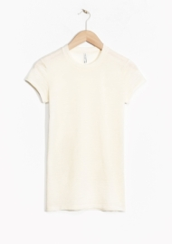 &Other Stories Sheer Wool T-Shirt off white (100% wool)