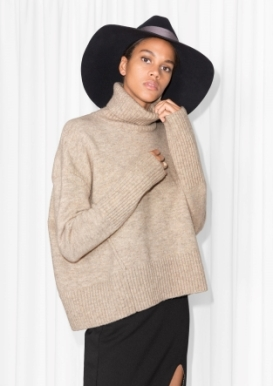 &Other Stories Turtleneck Sweater beige