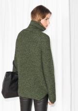 &Other Stories Turtleneck Sweater dark green