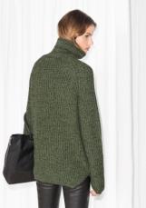 &Other Stories Turtleneck Sweater dark green