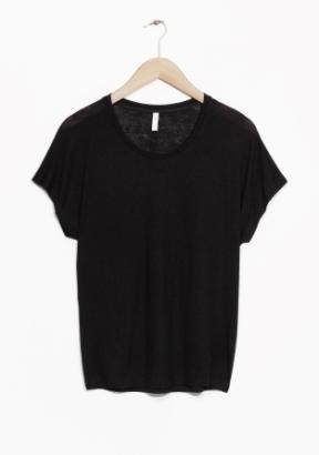 &Other Stories Wool-Blend Top black (85% modal 15% wool)
